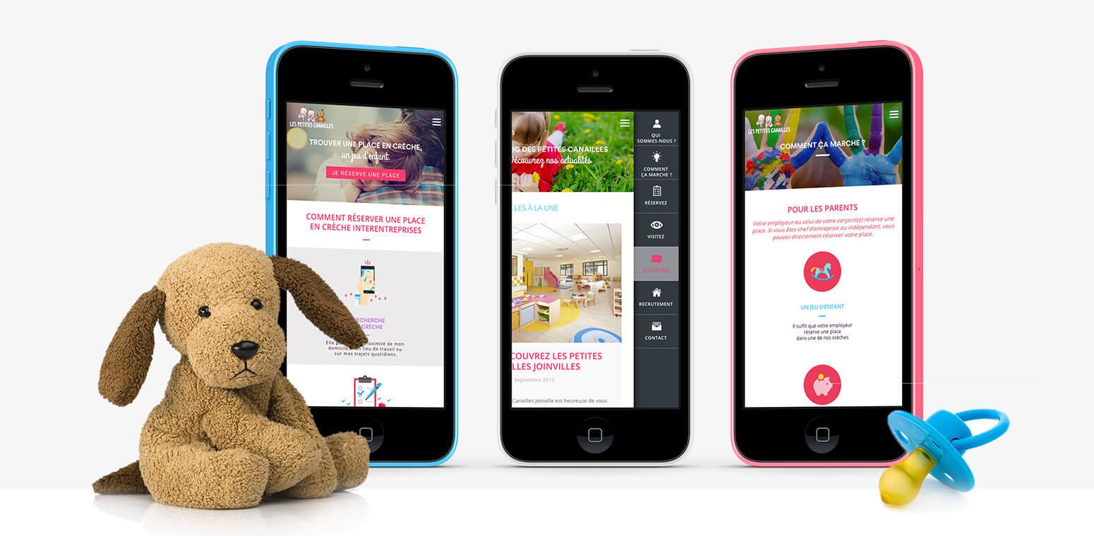 Création d'un nouveau site internet pour Les Petites Canailles par l'agence digitale Typy