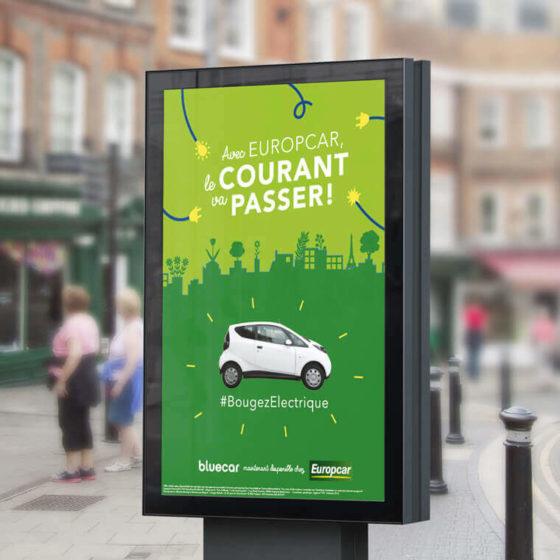 Opération Europcar x Bluecar par l'agence de communication TYPY