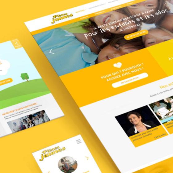 Refonte du site Pièces Jaunes par l'agence de communication TYPY